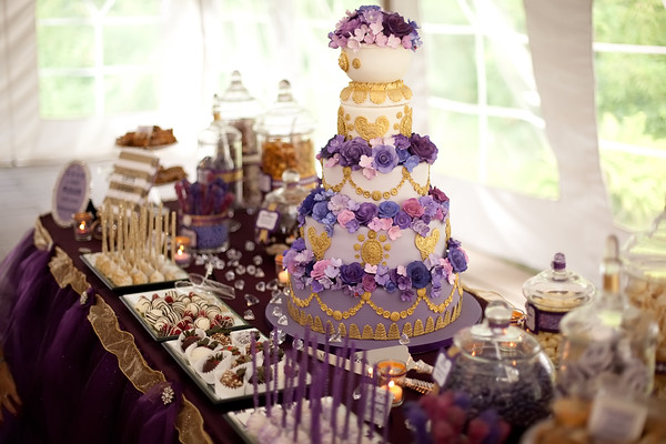 Vintage Plum and Gold 25th Anniversary Party