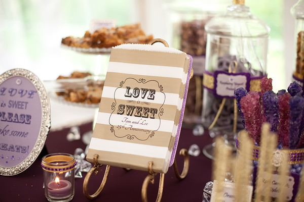 Vintage Plum and Gold Treat Bags